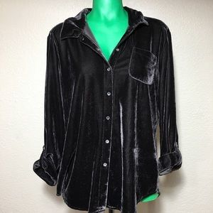 French Laundry Tops - French Laundry Velvety Button Down Blouse Large